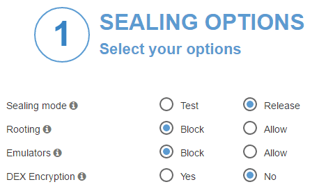 ADC sealing option DEX encryption