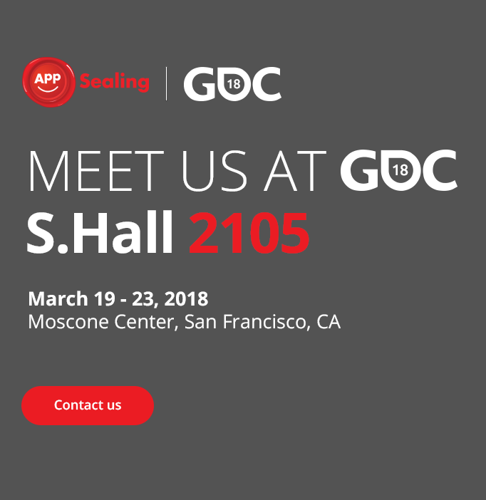 Meet us at GDC18 S.Hall 2105