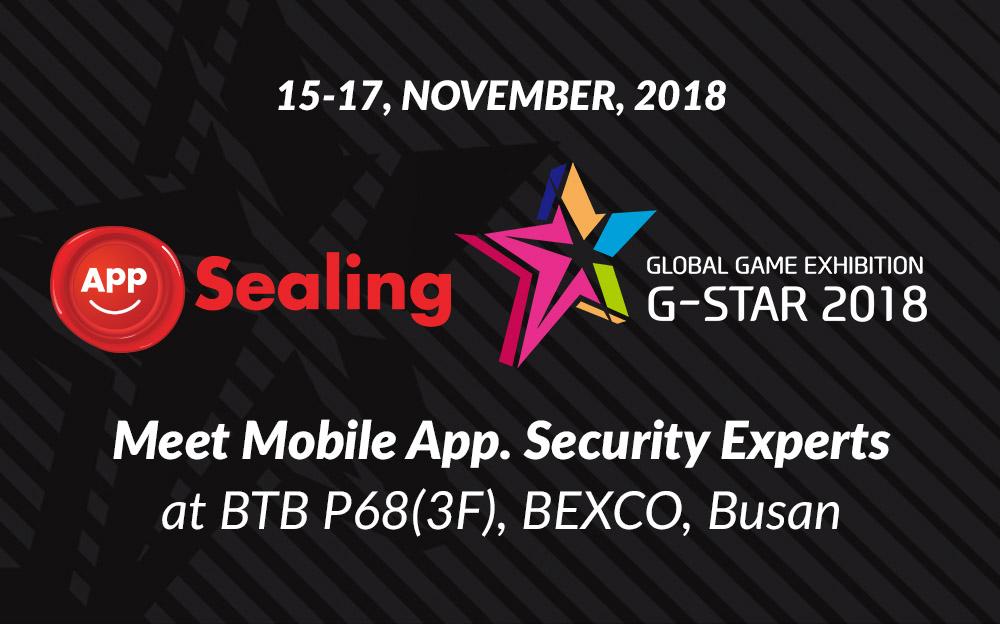 Meet AppSealing at G-Star 2018