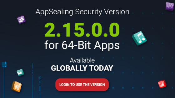 AppSealing supports 64 bit apps from today