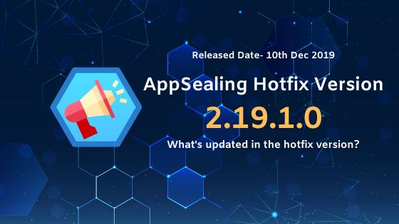 앱실링 핫픽스 2.19.1.0이 릴리즈 되었습니다.