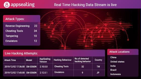 안드로이드 앱 리얼타임 해킹 데이터 스트림 서비스 라이브
